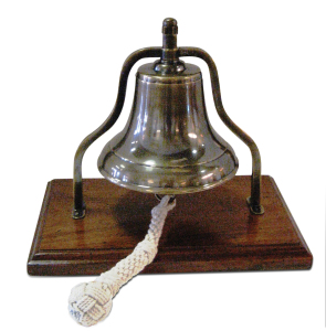 Ships bell from Home by Eagles' Nest in League City.