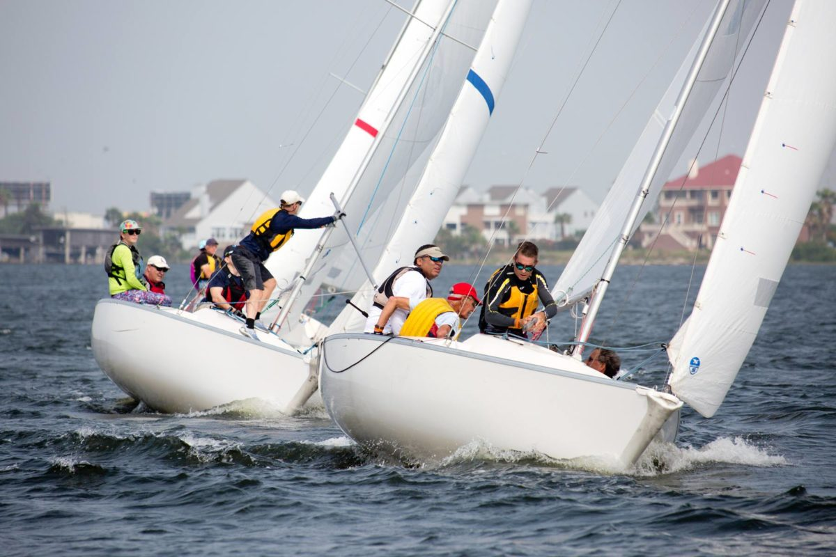 Preparing Spin set National Hospice Regatta Alliance