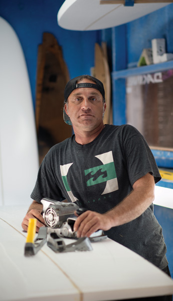 david in blue room Meet the Surfboard Shaper   David Cunningham