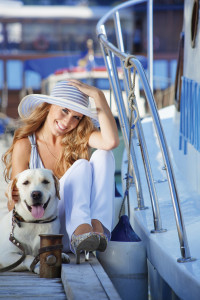 dogandwoman 200x300 Boating With Mans Best Friend