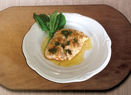 flounderbasil In Season Seafood Sensations: Grouper, Flounder & Shrimp