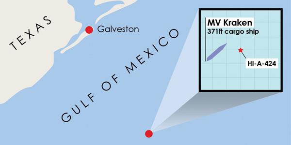 galveston kraken coordinates The Kraken   Galvestons Newest Artificial Reef