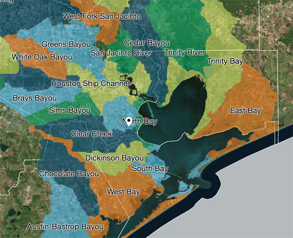 gbaymap Galveston Bay Foundation and HARC release 2016 report card for Galveston Bay