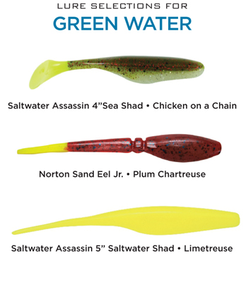 greenwaterlures Lure Colors for Trout and Redfish