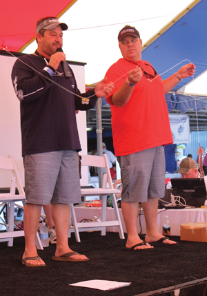 Capt. Brett 'Ahab' Holden and Capt. Travis Joyce explain how to rig a proper leader for swordfishing.