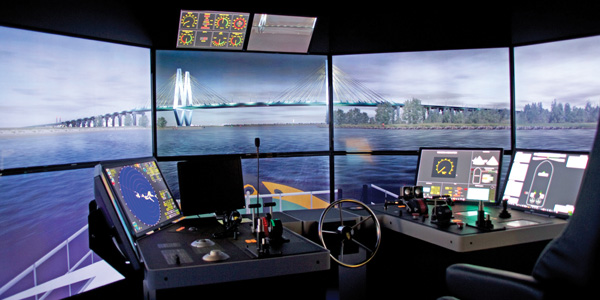 maritime simulator San Jacinto College Maritime Technology and Training Center