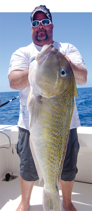 Mike Parsons with the new Texas state record tilefish. 43 inches and 33.08 pounds.