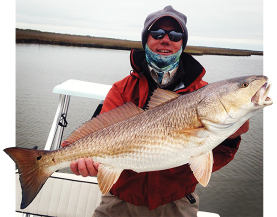 winter marsh redfish Out in the cold