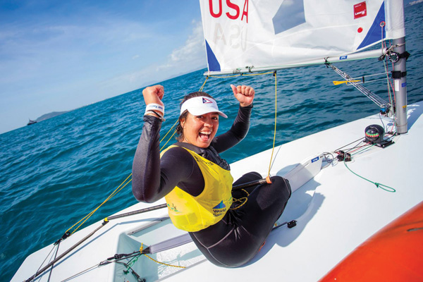 Charlotte Rose HYC Youth Sailor Brings Home the Gold from China