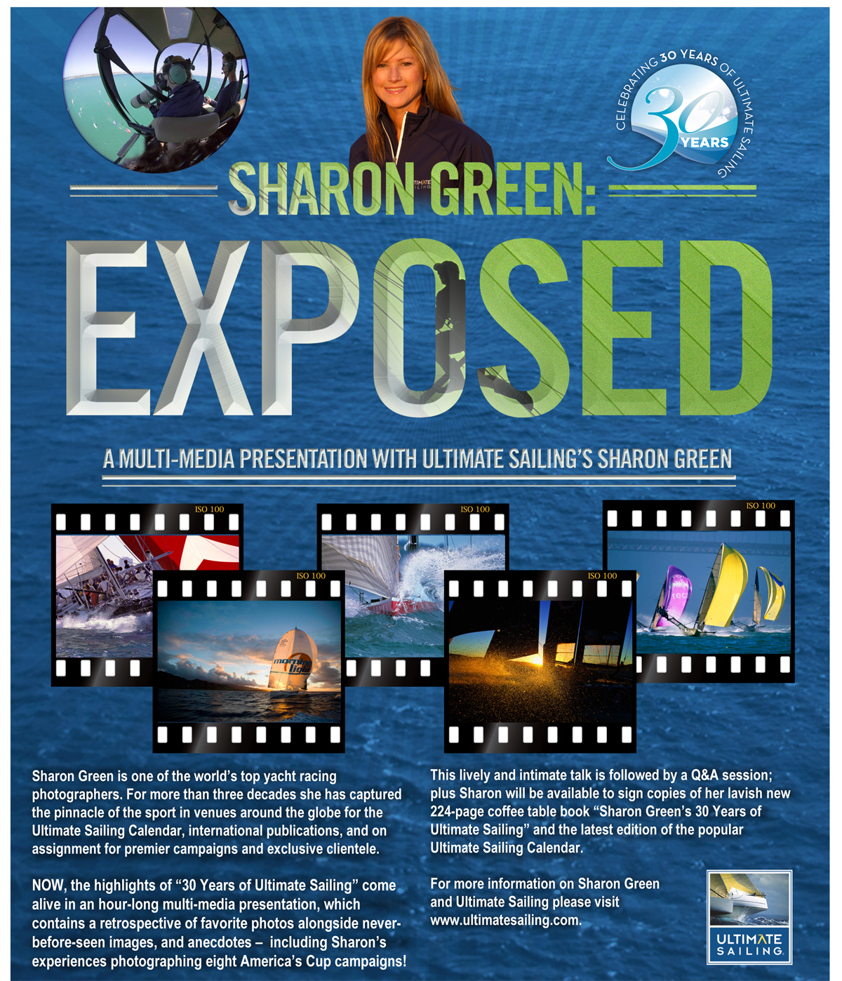 SGREEN EXPOSED flyer 879x1024 Top Yachting Photographer to Speak at the Houston Yacht Club