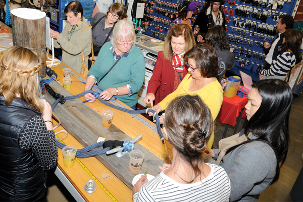 rigging table 1st Annual Ladies' Night at West Marine Rig Shop