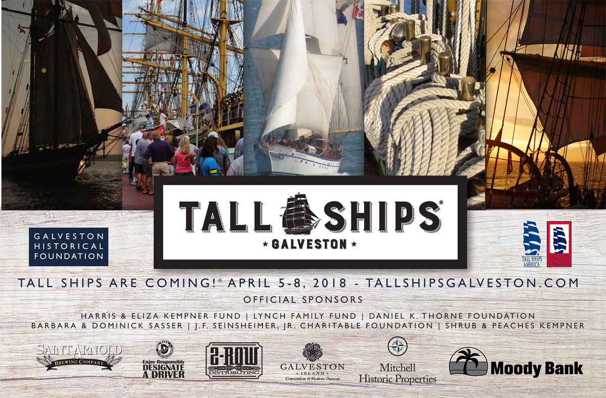 tall ships 1024x674 Tall Ships Are Coming!® Tall Ships® Galveston Sets Sail For New Maritime Festival April 5 8, 2018