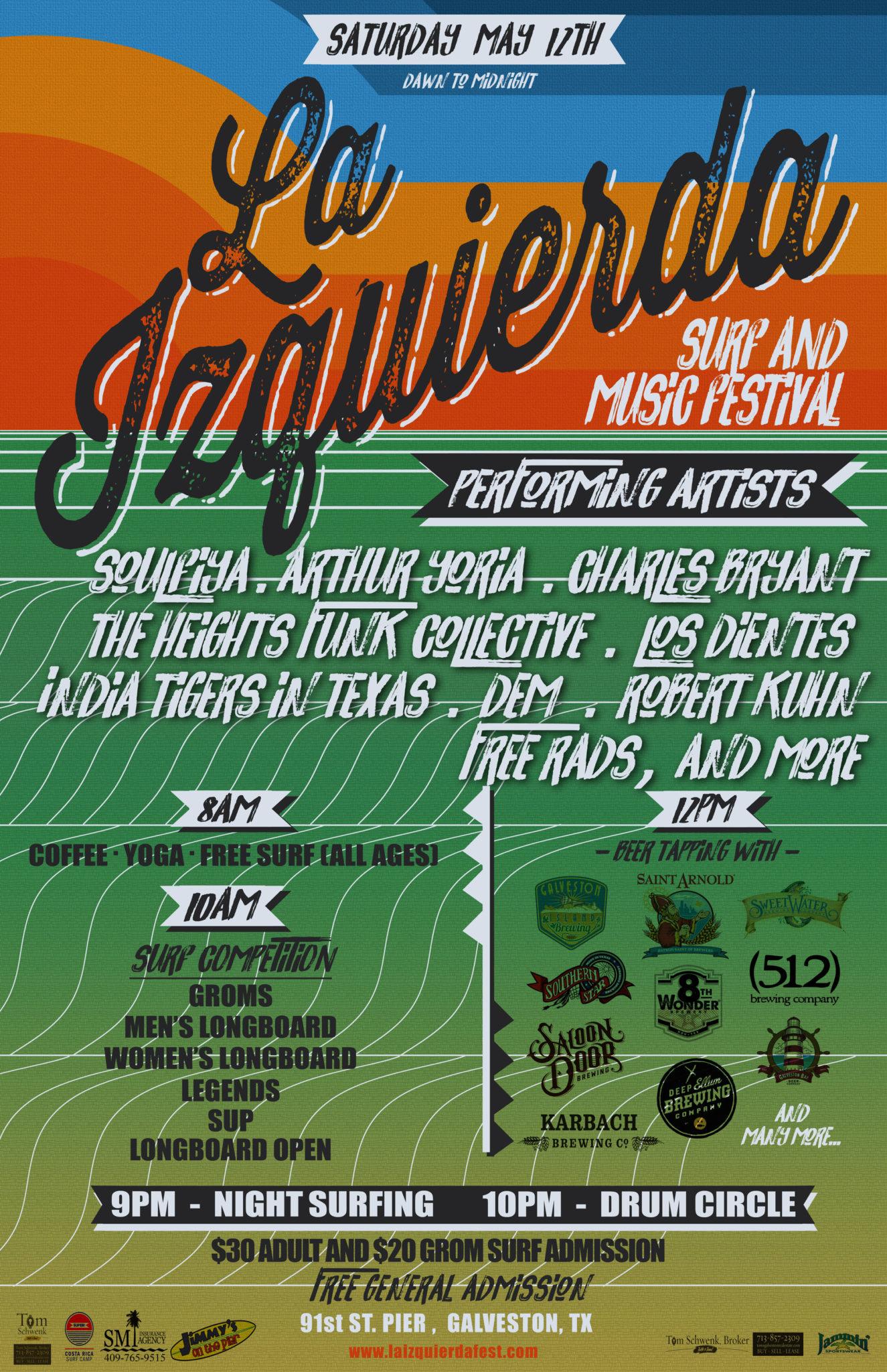 Flier 1.0 La Izquierda Surf and Music Festival
