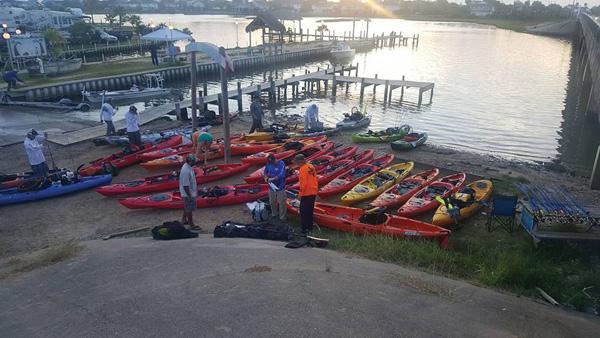 heroes on water Kayak fishing with Marine Corps Veteran and Hurricane Harvey Hero Donald Justin