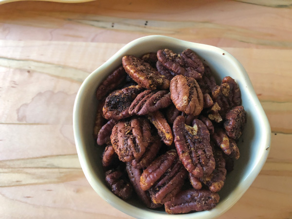spicy pecan recipe The Galley: Savory nuts, wine and brie