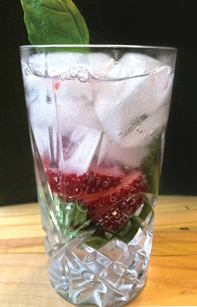 strawberry basil vodka soda The Galley: Summertime Herbs & Grilling