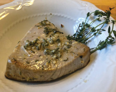 tuna steak 378x300 The Galley: Summertime Herbs & Grilling