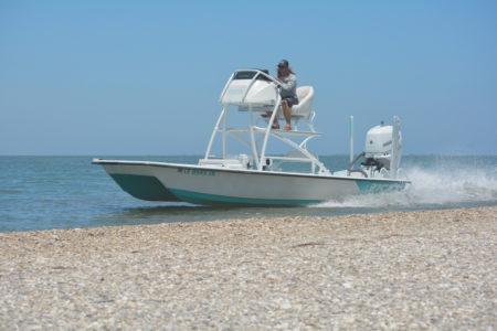 21 SUPER CAT WHITE SEAFOAM 350 VROD 450x300 The 21 Super Cat from Haynie Custom Bay Boats