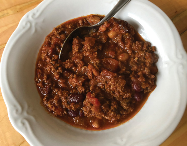 chili recipe The Galley: Warming Foods
