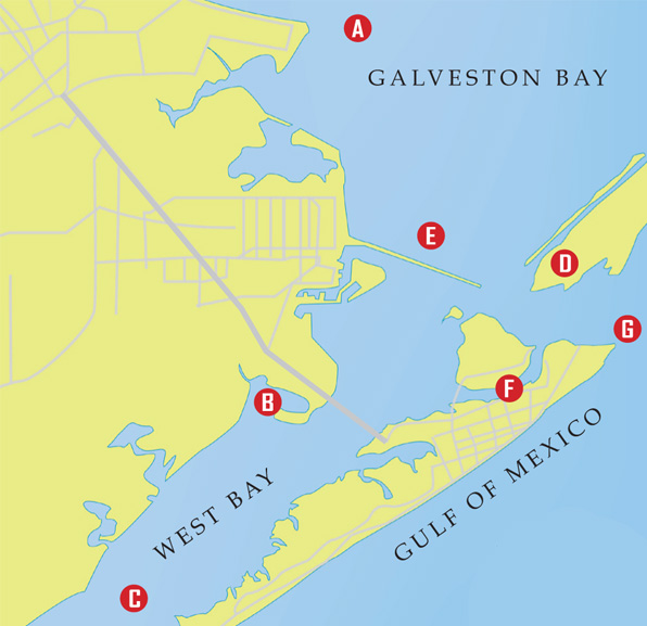 flounder map Galveston Flounder Run: A Quick Guide